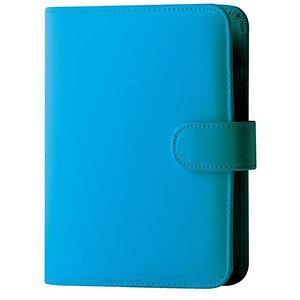 Image of Collins Paris Pocket Organiser / Padded Leather / 2017 Diary Insert For Refills / 120x81mm / Teal