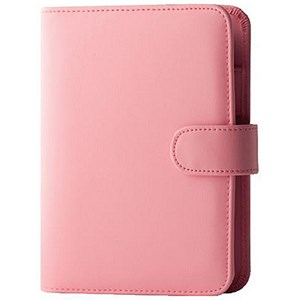 Image of Collins Paris Personal Organiser / Padded Leather / 2017 Diary / Insert Refills / 172x96mm / Pink