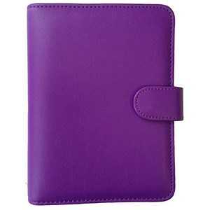 Image of Collins Paris Personal Organiser / Padded Leather / 2017 Diary / Insert Refills / 172x96mm / Purple