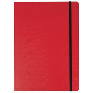 Image of Black n' Red Casebound Notebook / Red / B5 / Ruled & Numbered / 144 Pages