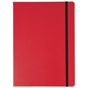 Image of Black n' Red Casebound Notebook / Red / A5 / Ruled & Numbered / 144 Pages