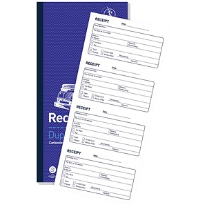 Image of Challenge Carbonless Receipt Duplicate Book / 200 Receipts / 240x141mm