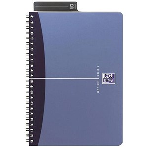 Image of Oxford Metallics Wirebound Notebook / A4 / Ruled / 180 Pages / Blue / Pack of 5
