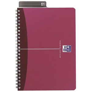 Image of Oxford Metallics Wirebound Notebook / A4 / Ruled / 180 Pages / Red / Pack of 5