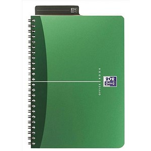 Image of Oxford Metallics Wirebound Notebook / A4 / Ruled / 180 Pages / Green / Pack of 5
