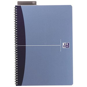 Image of Oxford Metallics Wirebound Notebook / A5 / Ruled / 180 Pages / Blue / Pack of 5