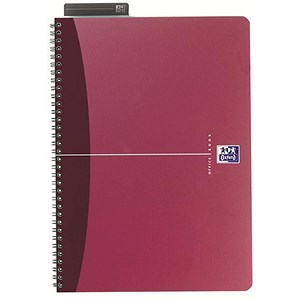 Image of Oxford Metallics Wirebound Notebook / A5 / Ruled / 180 Pages / Red / Pack of 5