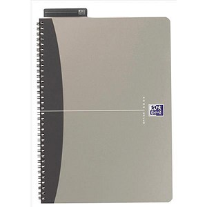 Image of Oxford Metallics Wirebound Notebook / A5 / Ruled / 180 Pages / Grey / Pack of 5