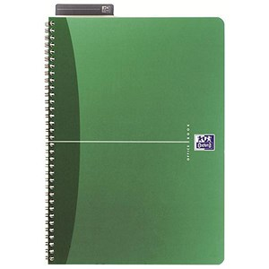 Image of Oxford Metallics Wirebound Notebook / A5 / Ruled / 180 Pages / Green / Pack of 5