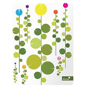 Image of Silvine Summer Gardens Casebound Notebook / A5+ / Ruled / 160 Pages / Pack of 4