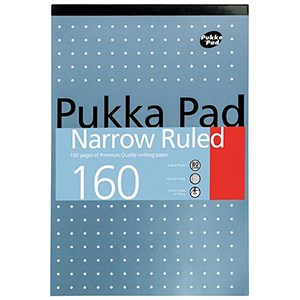 Image of Pukka Metallic Headbound Refill Pad / A4 / Punched / Feint Ruled (6mm) with Margin / 160 Pages / Pack of 6