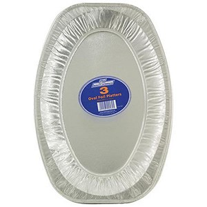 Image of Robinson Young Caterpack Foil Food Platters / Oval / 430mm Diameter / Pack of 3