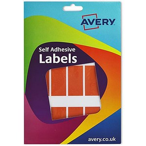 Image of Avery Label Wallet / 25x50mm / Orange / 16-100 / 324 Labels