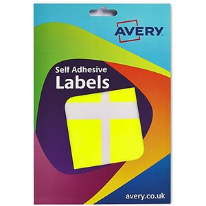 Image of Avery Label Wallet / 50x80mm / Fluorescent Yellow / 16-102 / 120 Labels