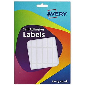 Image of Avery Label Wallet / 12x44mm / White / 16-103 / 432 Labels