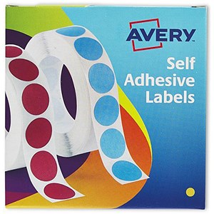 Image of Avery Dispenser for 8mm Diameter Labels / Yellow / 24-617 / 1400 Labels