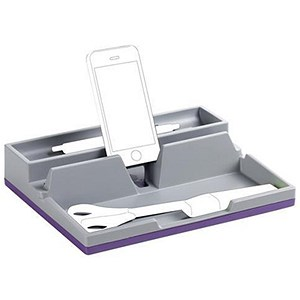Image of Durable Varicolor Desk Organiser with Integrated Cable Management