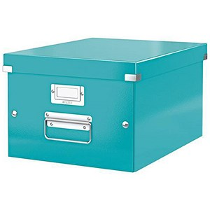 Image of Leitz WOW Click & Store Box / Medium / A4 / Ice Blue
