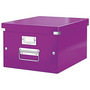 Image of Leitz WOW Click & Store Storage Box / Medium / A4 / Purple
