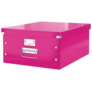 Image of Leitz WOW Click & Store Collapsible Large A3 Archive Box - Pink