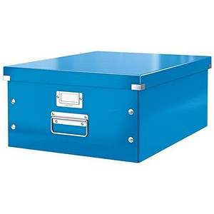 Image of Leitz WOW Click & Store Collapsible Large A3 Archive Box - Blue