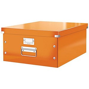 Image of Leitz WOW Click & Store Collapsible Large A3 Archive Box - Orange