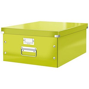 Image of Leitz WOW Click & Store Collapsible Large A3 Archive Box - Green