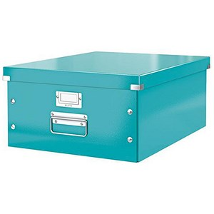 Image of Leitz WOW Click & Store Collapsible Large A3 Archive Box - Ice Blue