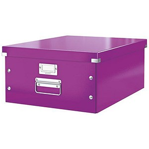 Image of Leitz WOW Click & Store Collapsible Large A3 Archive Box - Purple