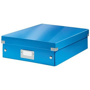 Image of Leitz WOW Click & Store Organiser Box / Medium / Blue