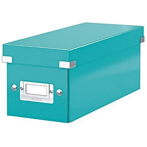 Image of Leitz WOW Click & Store CD Box - Ice Blue