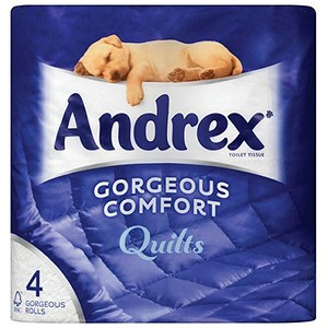 Image of Andrex Toilet Rolls / Quilted / White / 4 Rolls
