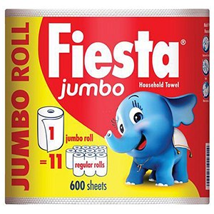 Image of Fiesta Kitchen Towels Jumbo Roll - 600 Sheets