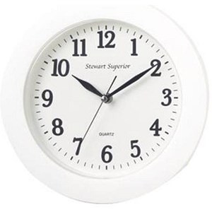 Image of Wall Clock Plastic 12 Hour Dial White