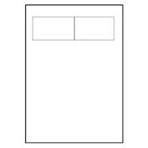 Image of Avery Integrated Double Label Sheet / 85x54mm / White / L4840-100 / 100 Sheets