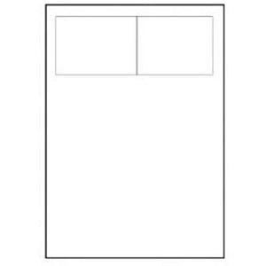 Image of Avery Integrated Double Label Sheet / 100x45mm / White / L4843-40 / 40 Sheets
