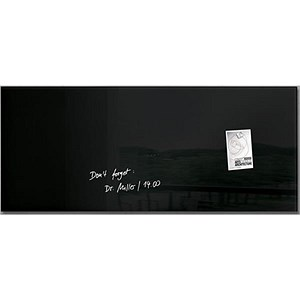 Image of Sigel Artverum Tempered Glass Board / Magnetic / W1300xH550mm / Black