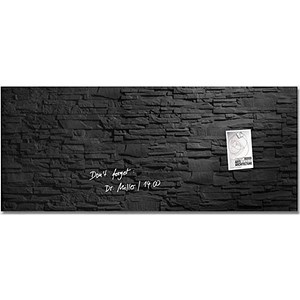Image of Sigel Artverum Tempered Glass Magnetic Board / 1300x550mm / Slate