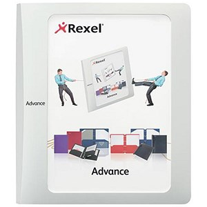 Image of Rexel Advance Customisable Ring Binders / 4 O-Ring / 55mm Spine / 40mm Capacity / A4 / White