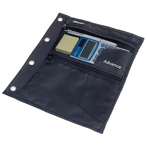 Image of Rexel Advance Zip Pouch with 3 Pockets - Black