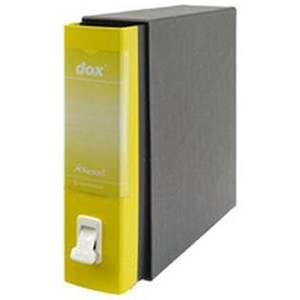 Image of Rexel Dox 1 A4 Lever Arch Files / Board / 80mmm Spine / Yellow / Pack of 6