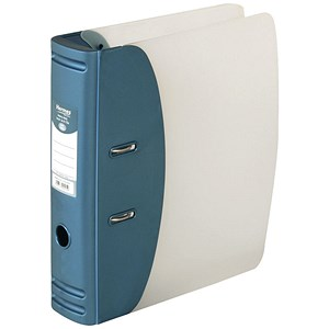 Image of Hermes A4 Lever Arch File / Plastic / 80mm Spine / Metallic Blue