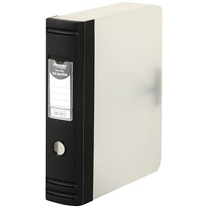 Image of Hermes Plastic Box File / 80mm Spine / A4 / Black