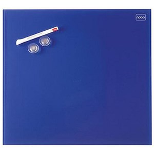 Image of Nobo Diamond Magnetic Drywipe Board / 450x450mm / Blue