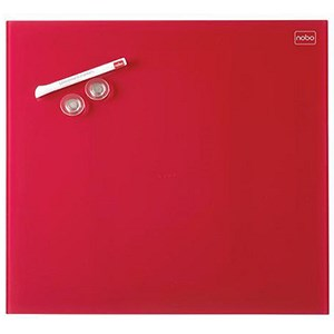 Image of Nobo Diamond Magnetic Drywipe Board / 450x450mm / Red
