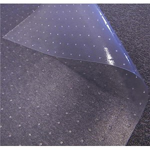 Image of Floortex Flat Profile Floor Mat PVC For Carpet Protection 700x3600mm Clear Ref FCR112712EV