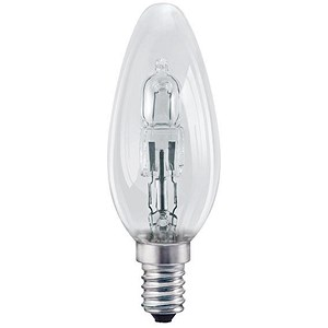 Image of GE Bulb Halogen Eco Candle SES 30W Clear Ref 98392