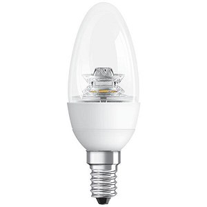 Image of GE Bulb LED Candle 6W 40W Equivalent SES Clear Ref 84550