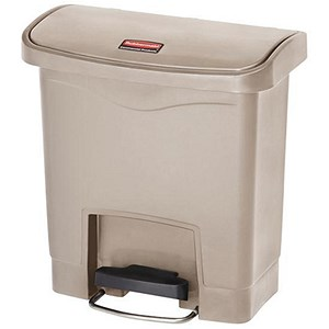 Image of Rubbermaid Slim Step Bin / 15 Litre / Beige