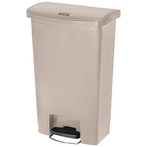 Image of Rubbermaid Slim Step Bin / 50 Litre / Beige